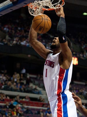 Pistons center Andre Drummond, shown Jan. 12, will return to the lineup and start for the first time in his career Friday.