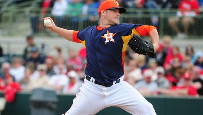 Houston Astros pitcher Bud Norris will become the team's fourth opening day starter in four years Sunday night.
