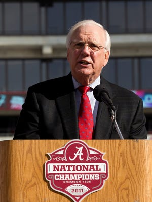 University of Alabama athletic director Mal Moore was responsible for hiring coach Nick Saban, who restored the Crimson Tide football program to national prominence.