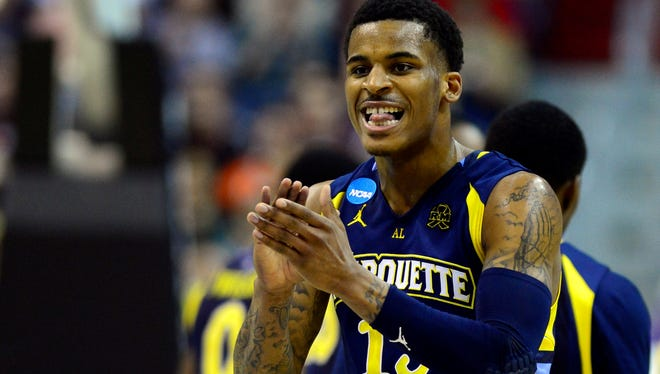 Vander Blue played the full 40 minutes in Marquette's win over Miami in the Sweet 16.