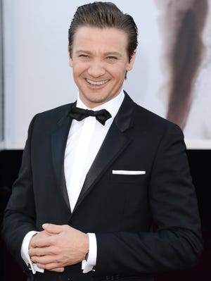 Jeremy Renner arrives at the Oscars at Hollywood and Highland Center in Hollywood in February.