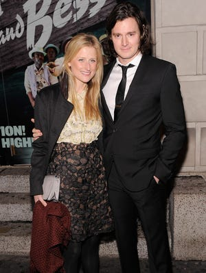 Mamie Gummer and Benjamin Walker attend 'The Gershwins' Porgy and Bess' Broadway opening night in January 2012.