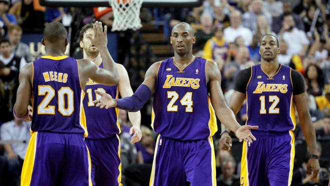 Los Angeles Lakers guard Kobe Bryant (24) says he'll decide in the summer how much longer he's playing.