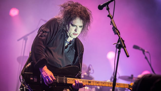 Robert Smith of The Cure performs at Eurockeennes Music Festival  in Belfort, France. The Cure will play Lollapalooza on Sunday, Aug. 4 in Chicago.