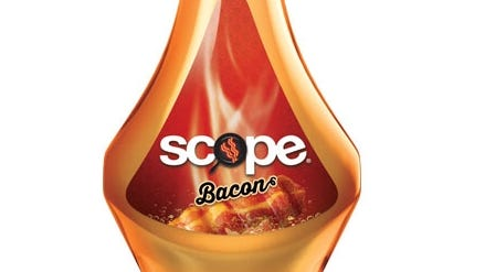 Procter & Gamble's Scope brand ran print ads for a new bacon-flavored Scope mouthwash