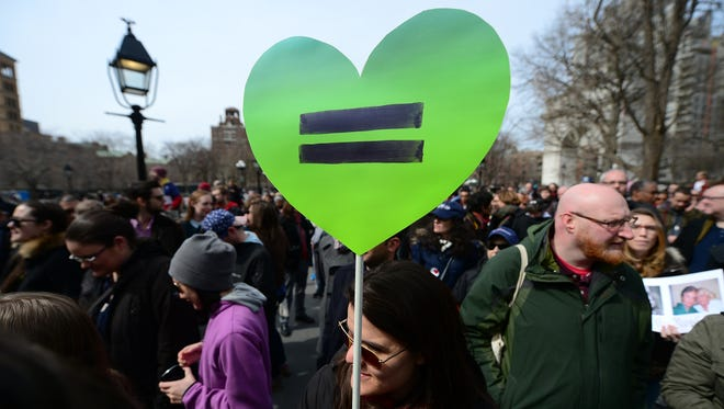 Two Catholic cardinals spoke last weekend about how God loves all, including gays, but made clear there's no change in the Church's stance on same-sex marriage. Two cases that could impact marriage rights are before the U.S. Supreme Court now