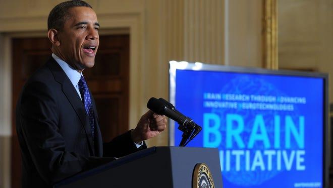 President Obama announces brain initiative on April 2.