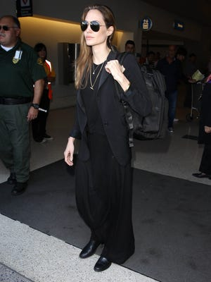 Angelina Jolie, shown in Los Angeles on March 27, has opened a school for Afghan girls outside of Kabul.