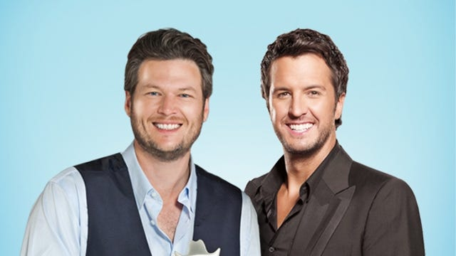 Blake Shelton and Luke Bryan will host the 48th Academy of Country Music Awards on Sunday on CBS.