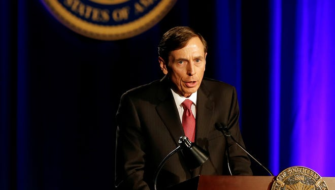 David H. Petraeus last week made his first public remarks since he resigned as head of the CIA after an extramarital affair scandal. He spoke at the University of Southern California.