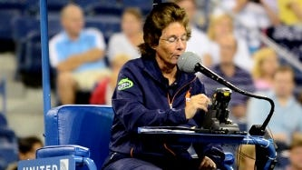 Lynn Welch called hundreds of matches in her career, and her calming voice was legendary on tour.