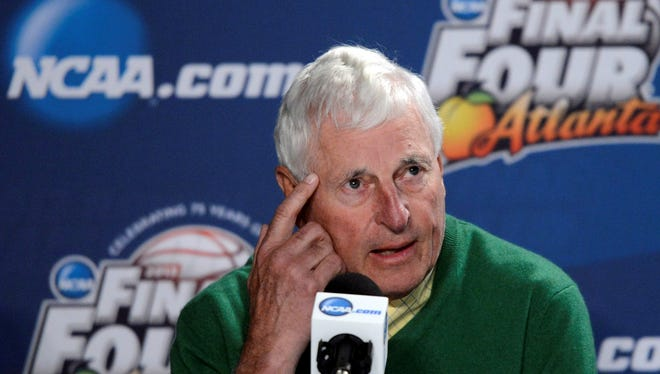 Former Indiana Hoosiers head coach Bob Knight was at the 75 years of March madness press conference in Atlanta. His 1975-76 team was voted the best ever.