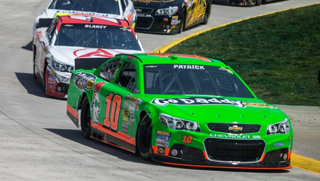 After starting at the back at the field, Danica Patrick (10) rallied to a 12th-place finish Sunday at Martinsville.