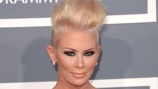 Jenna Jameson arrives at the 55th Annual Grammy Awards at Staples Center on Feb. 10 in Los Angeles.