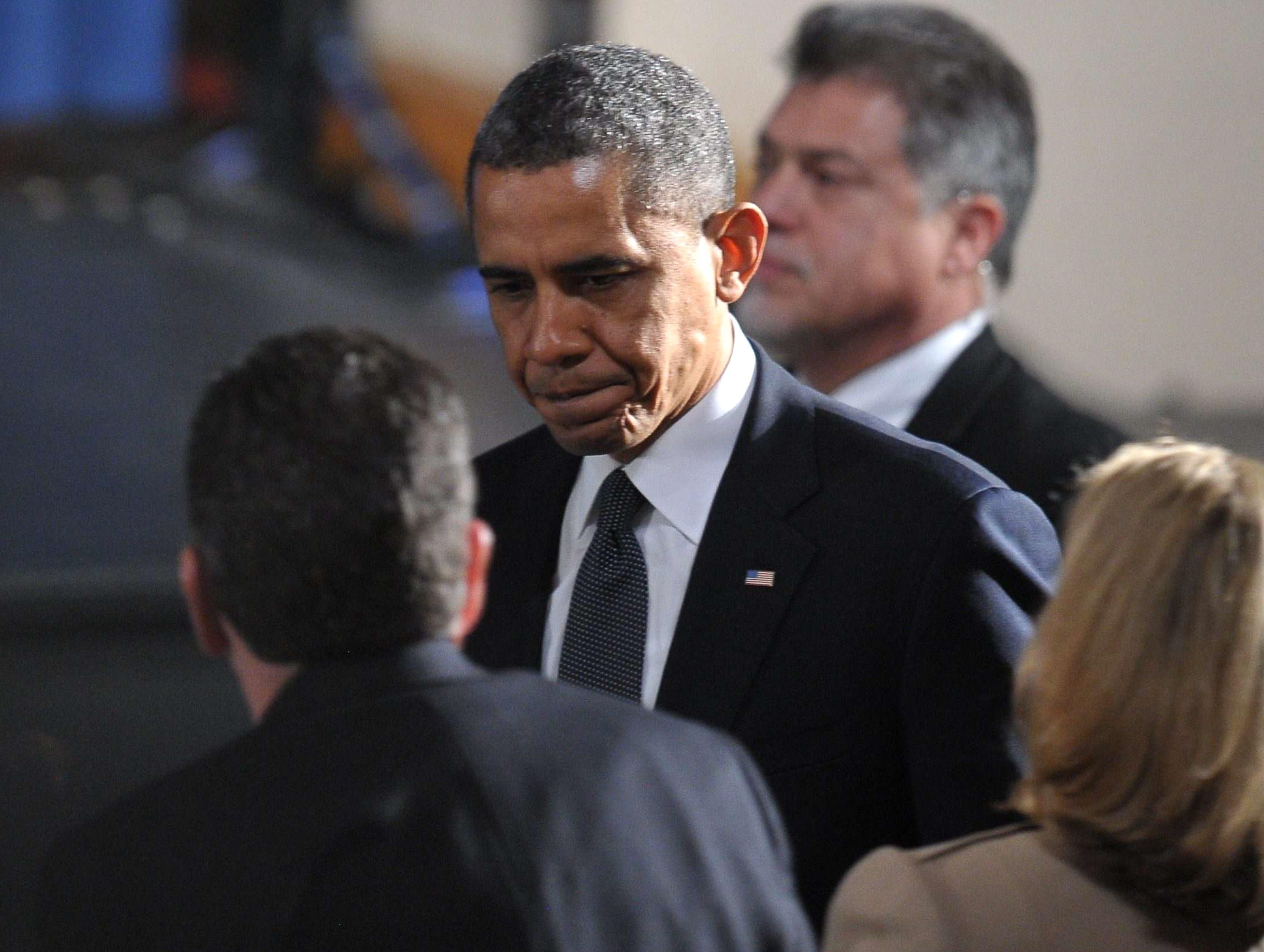Obama besoker newtown