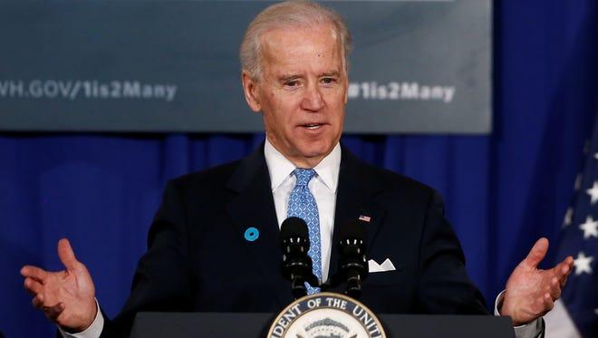 Vice President Biden speaks in Rockville, Md., on March 13.