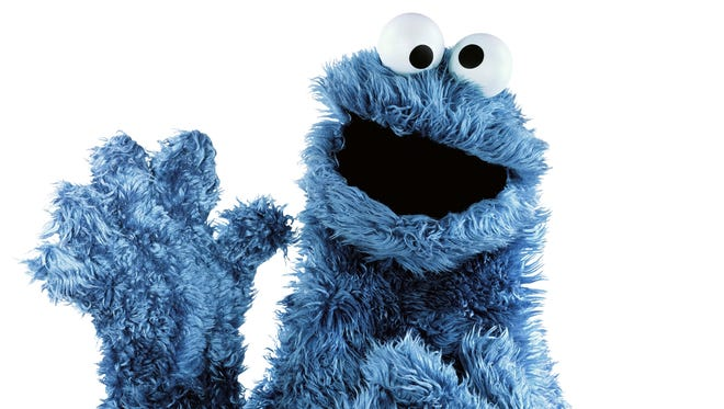 "The character Cookie Monster from the children's program, ""Sesame Street."""