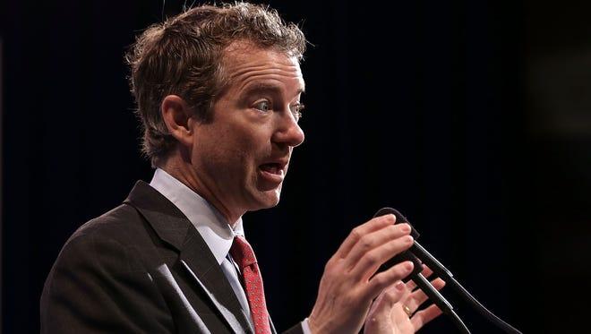 Sen. Rand Paul, R-Ky., speaks in Washington on March 19. 2013.