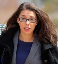 Fox News reporter Jana Winter returns to the courthouse on April 1 to face Arapahoe County District Judge William Sylvester regarding evidence in the Aurora theater shooting in Centennial, Colo.