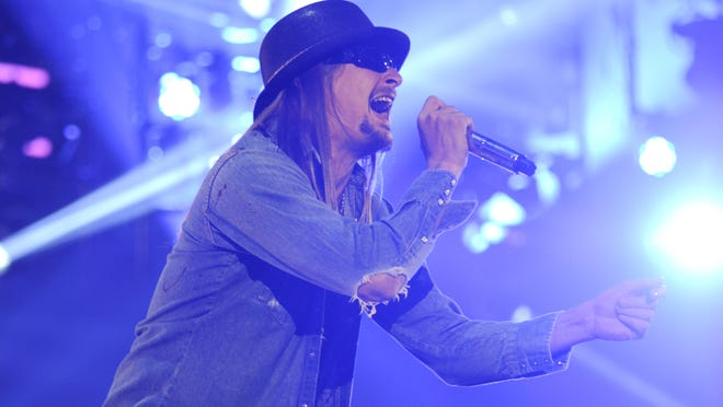 Kid Rock performs during the 10th anniversary of WWE Tribute to the Troops in Norfolk, Va.