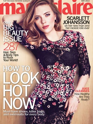 Scarlett Johansson covers the May issue of 'Marie Claire,' out April 16.