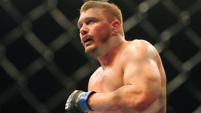 UFC fighter Matt Mitrione during UFC 137 at the Mandalay Bay event center.