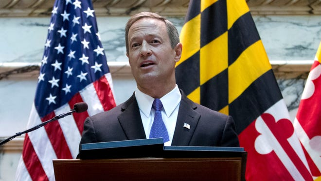 Maryland Gov. Martin O'Malley delivers his State of the State address in Annapolis Md., on Jan. 30.