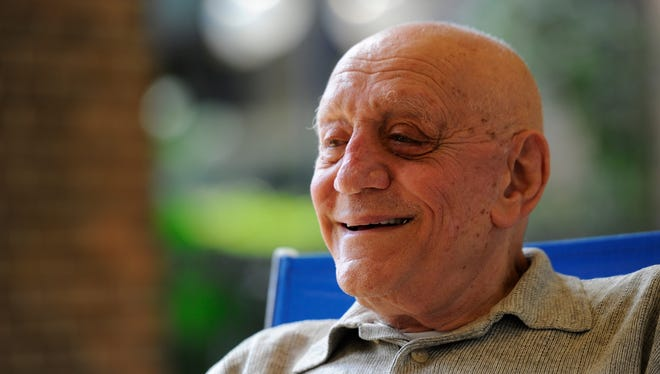 Jerry Tarkanian after getting the news he was named to the Naismith Memorial Basketball Hall of Fame, in April 2013