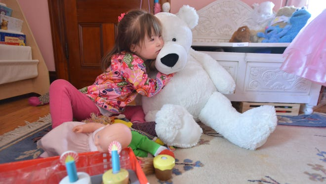 "Gracie McLaughlin's mother, Melanie Perkins McLaughlin, chose to continue her pregnancy after learning her daughter would have Down syndrome. ""I look at her and see this wonderful toddler,"" McLaughlin says."