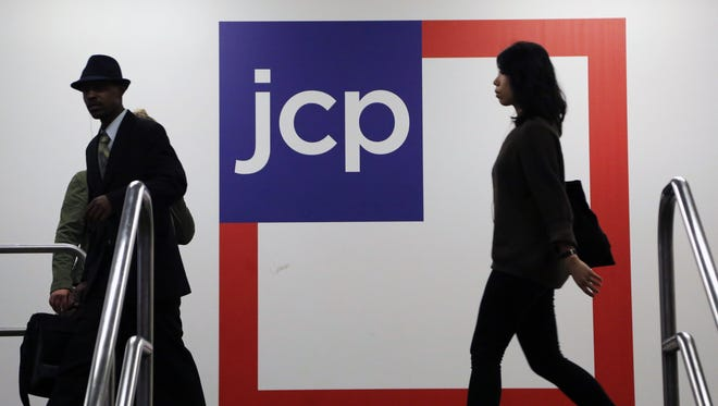 Customers arrive at a J.C. Penney store in New York.