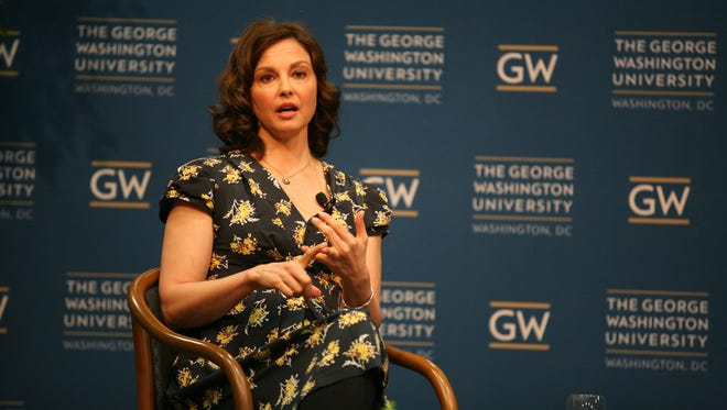 Actress Ashley Judd speaks about women's health issues at George Washington University in March.