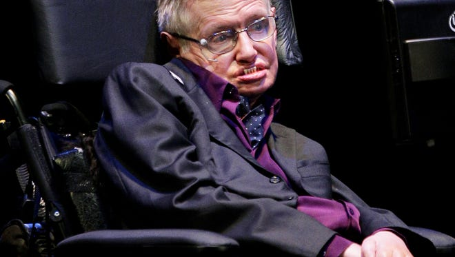 Physicist and best-selling author Stephen Hawking takes part in the Seattle Science Festival Luminaries Series last June.
