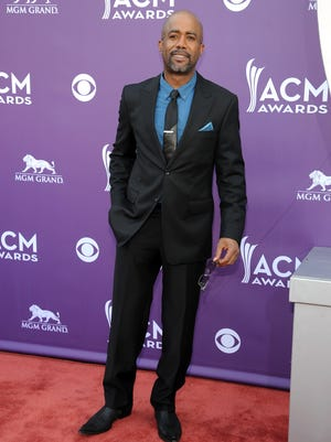 Darius Rucker, shown at the ACM Awards in April, took on a hater on Twitter.