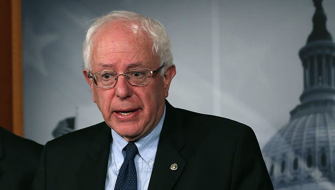 """""""A lot of people are hurting in our economy,"""" said Sen. Bernie Sanders, I-Vt."""
