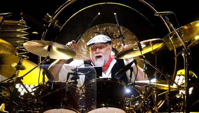 Drummer Mick Fleetwood performs during a Fleetwood Mac concert at Madison Square Garden on Monday in New York.