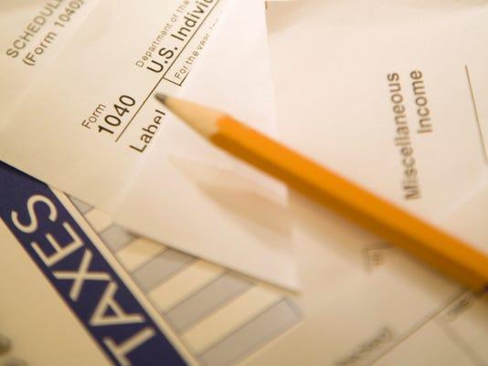 tax form pencil calculator