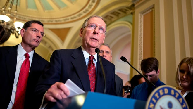 Senate Minority Leader Mitch McConnell, R-Ky., is a top target for defeat in 2014.
