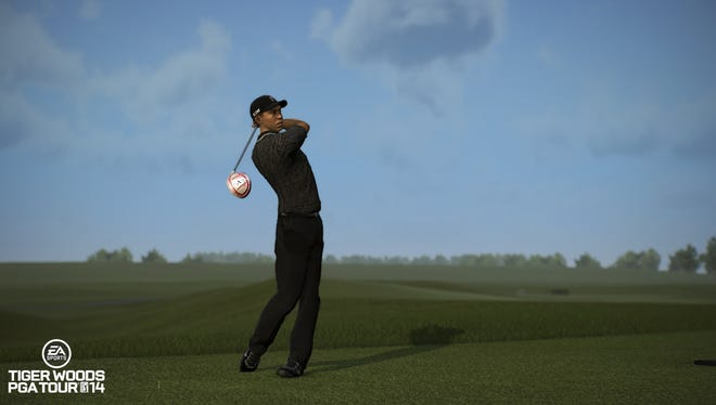 Tiger Woods as he appears in the video game 'Tiger Woods PGA Tour 14'.