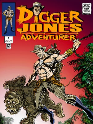 """Mach Yeahger writes and draws the adventures of the title hero and simian sidekick of """"Digger Jones."""""""