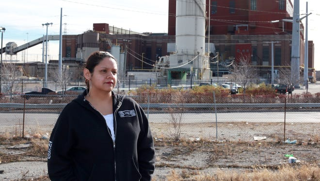 Kimberly Wasserman, in front of the Midwest Generation's Crawford Plant in Little Village in Chicago, is the North American winner of the Goldman Environmental Prize.