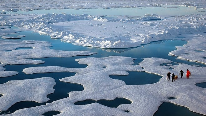 NOAA scientists explore the Arctic during a 2005 mission.