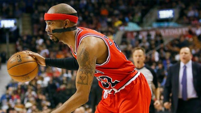 Richard Hamilton will miss the Bulls' game against the Heat on Sunday.