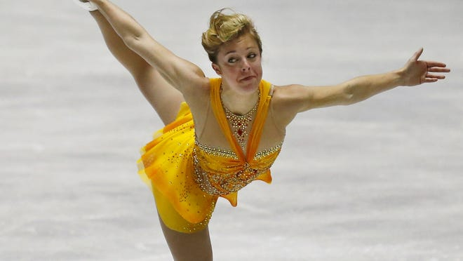 Ashley Wagner performs during the free event in helping to lead the USA to victory in World Team Trophy.