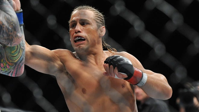 Uriah Faber defeated Scott Jorgensen with a fourth-round submission.