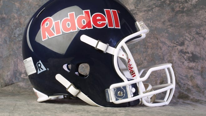 A Riddell helmet from 2002.