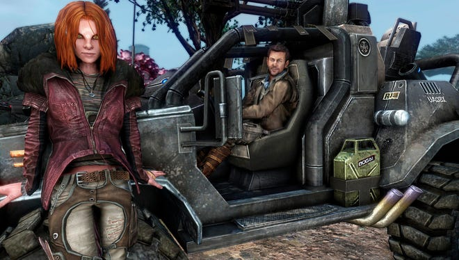 "Irisa and Nolan are characters in the video game ""Defiance."""
