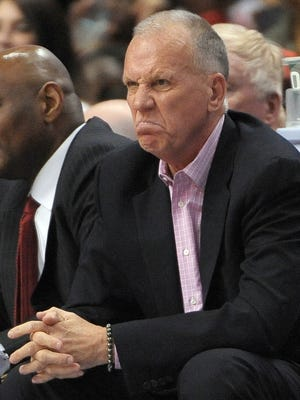 Sixers coach Doug Collins, shown Sunday, has not always liked what he's seen from his underachieving team, but he wants and expects to coach it next season.