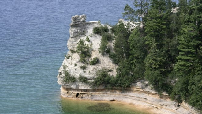 Pictured Rocks National Lakeshore sits on the south shore of Lake Superior in Michigan's upper peninsula. Lake Superior is the largest, deepest and coldest of the Great Lakes. Two oil projects would ship heavy crude along Lake Superior. Picture taken July 30, 2011.