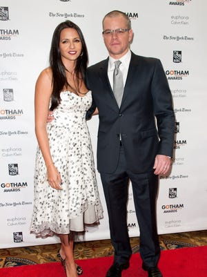 Matt Damon and wife Luciana Barroso attend the 22nd annual Gotham Independent Film awards on Nov. 26 in New York.