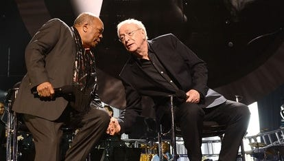 Quincy Jones and Michael Caine shared a birthday and the stage at the Power of Love Gala in Las Vegas.